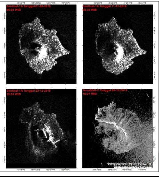 Satellite radar images